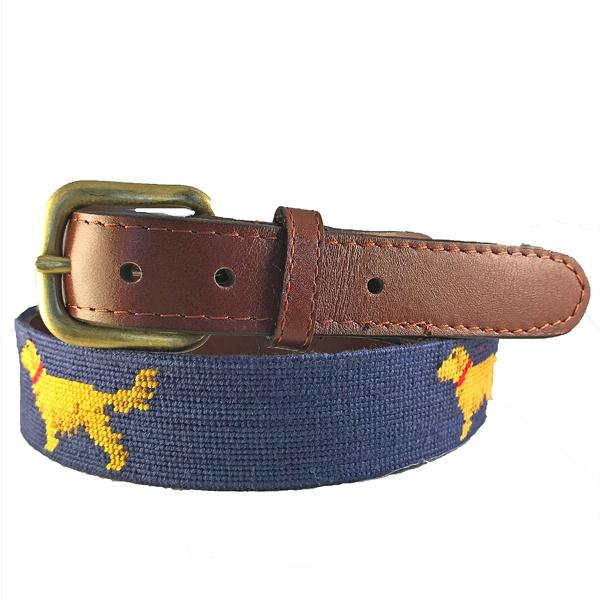 Smathers & Branson Retriever Needlepoint Belt