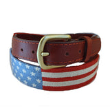 Smathers & Branson Stars and Stripes Needlepoint Belt