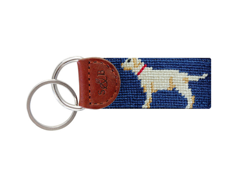 Smathers & Branson Yellow Lab Needlepoint Key Fob