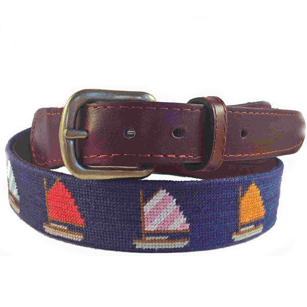 Smathers & Branson Rainbow Fleet Needlepoint Belt