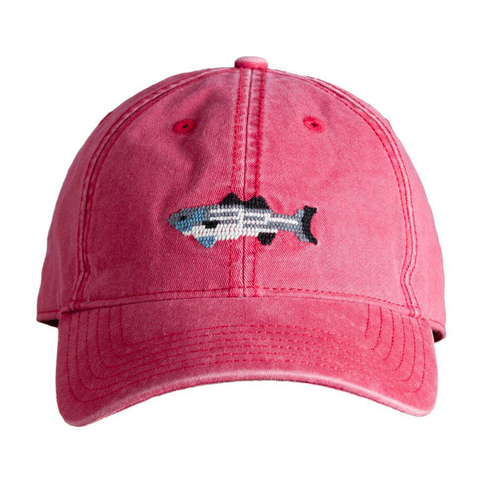 Striped Bass Hat in Red by Harding Lane