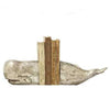 Whale Bookends in Silver Leaf Finish