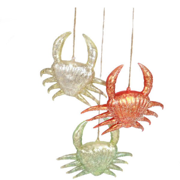 Wharf Crab Set of 3 Tree Ornnaments