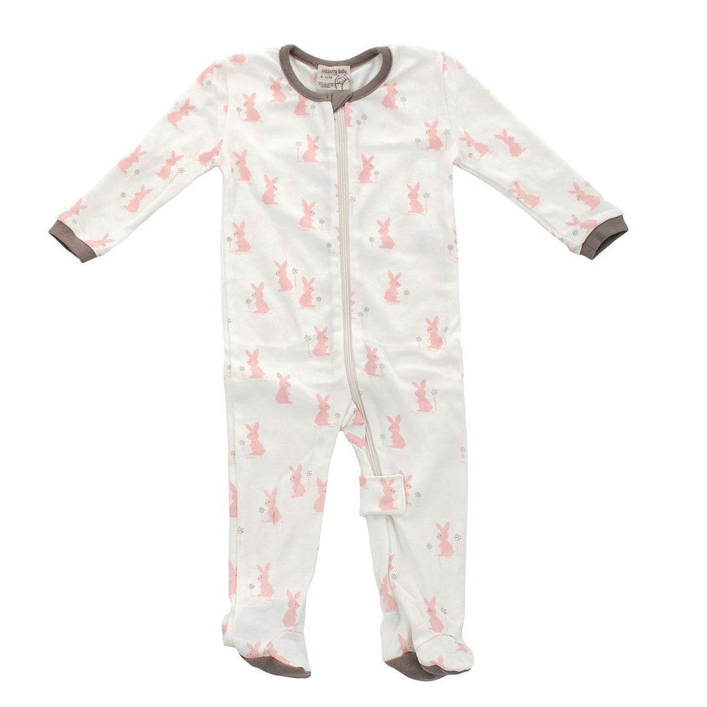 Organic Cotton Bunny Footie