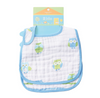 Owl Blue Cotton Muslin Bibs