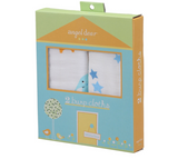 Elephant Blue Cotton Muslin Burp Cloths