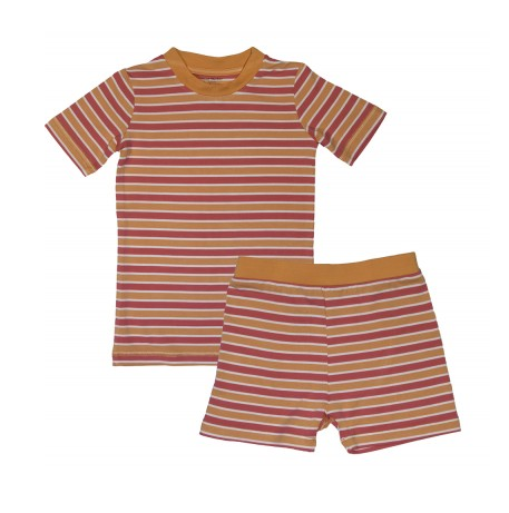 Coral/ Orange Strip Pajamas
