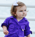 Infant Fishing ONESIE (PURPLE)