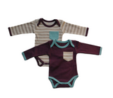 Eggplant and Aqua Bodysuits 2 Pack