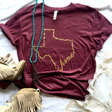 TX Outline Home Short Sleeve Tee