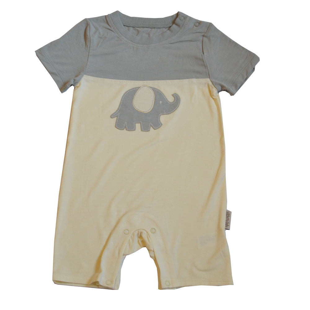 Elephant Short Sleeve Romper