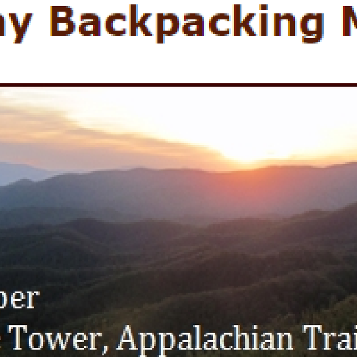 The 6 Day Backpacking Menu from BackpackingChef.com