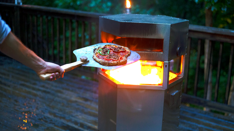 Wood-fired Pizza in a Pizza Oven