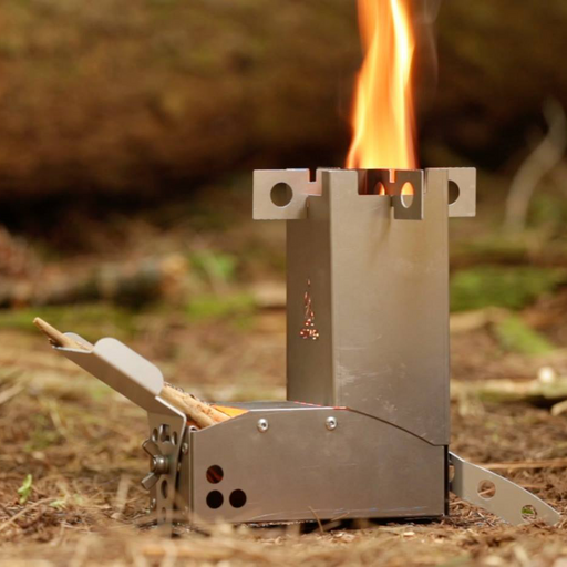 Hot Ash Mini Rocket Stove: 1 Pound Titanium/Aluminum