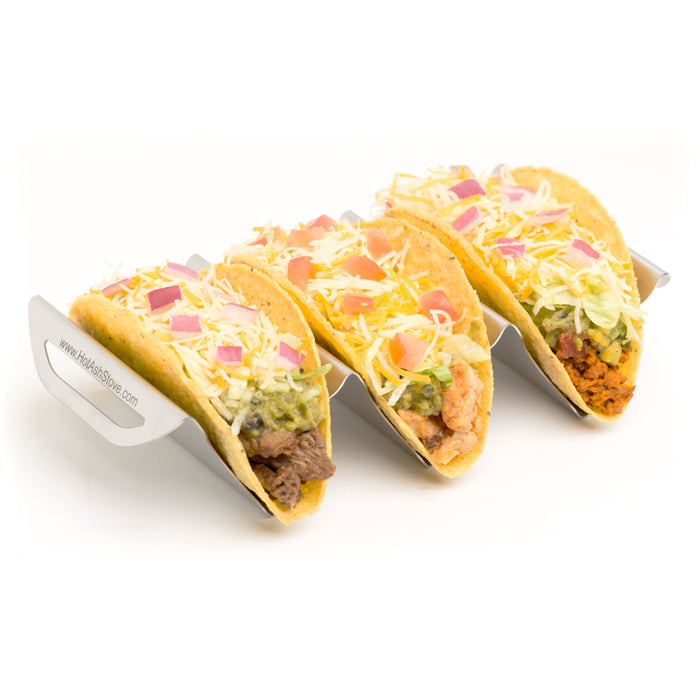 Hot Ash Stainless Steel Taco Holder