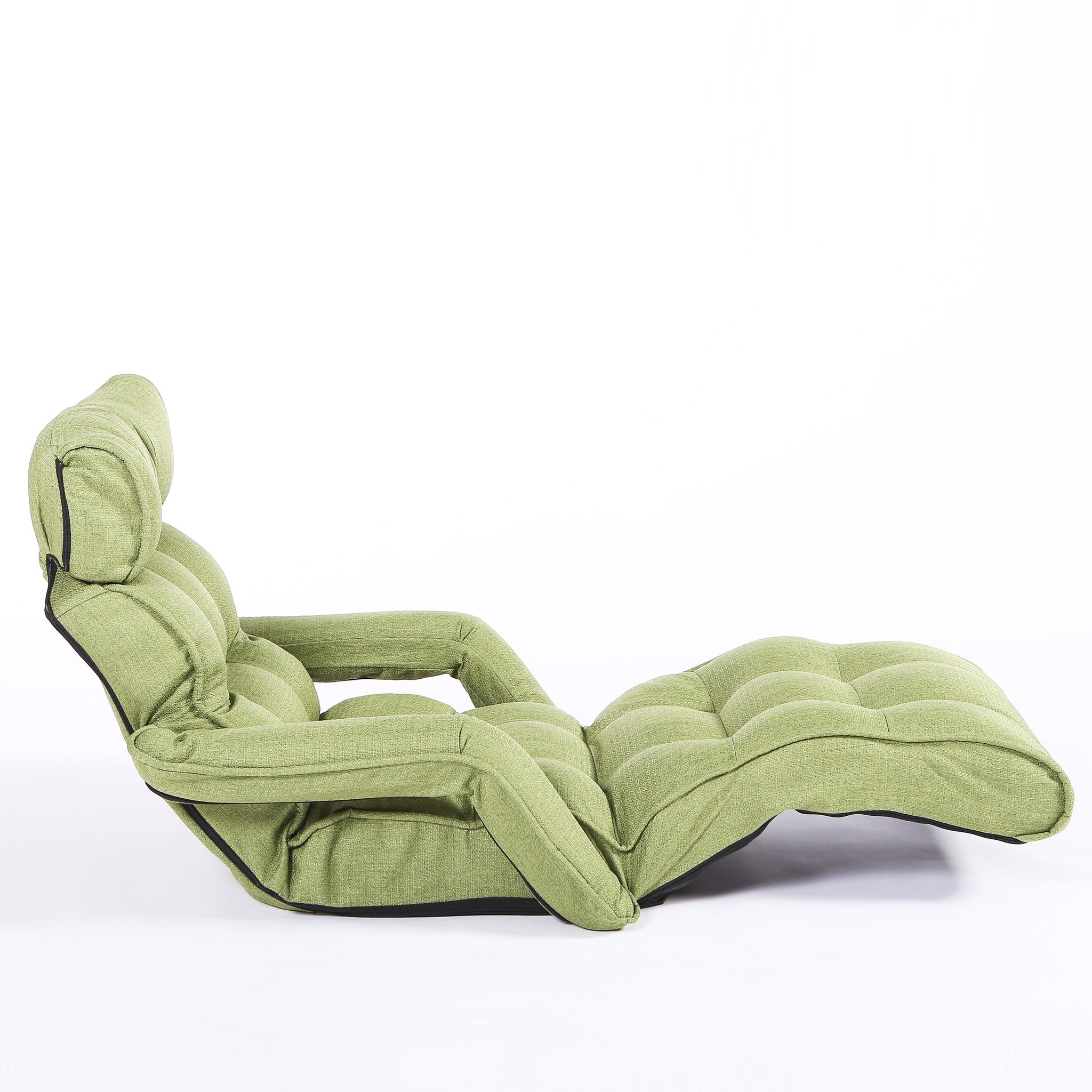 Pro Green Floor Sofa Chair Recliner with Armrest for Floor Seating