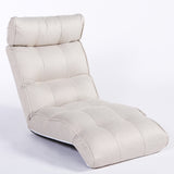 Basic Floor Sofa Chair Recliner, White Soft Fabric