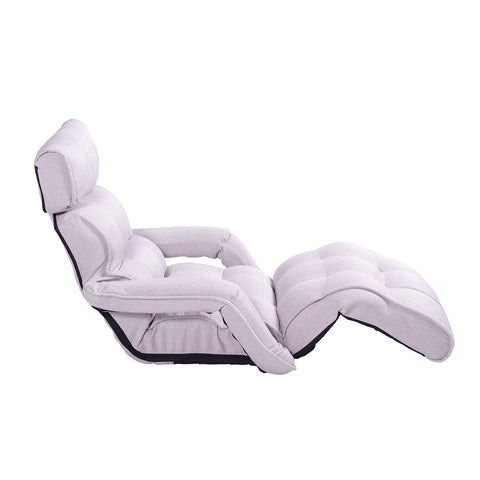 Pro Floor Sofa Chair Recliner with Armrest, Silver Birch