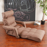 Pro Floor Sofa Chair Recliner with Armrest, Bronze Brown Soft Fabric