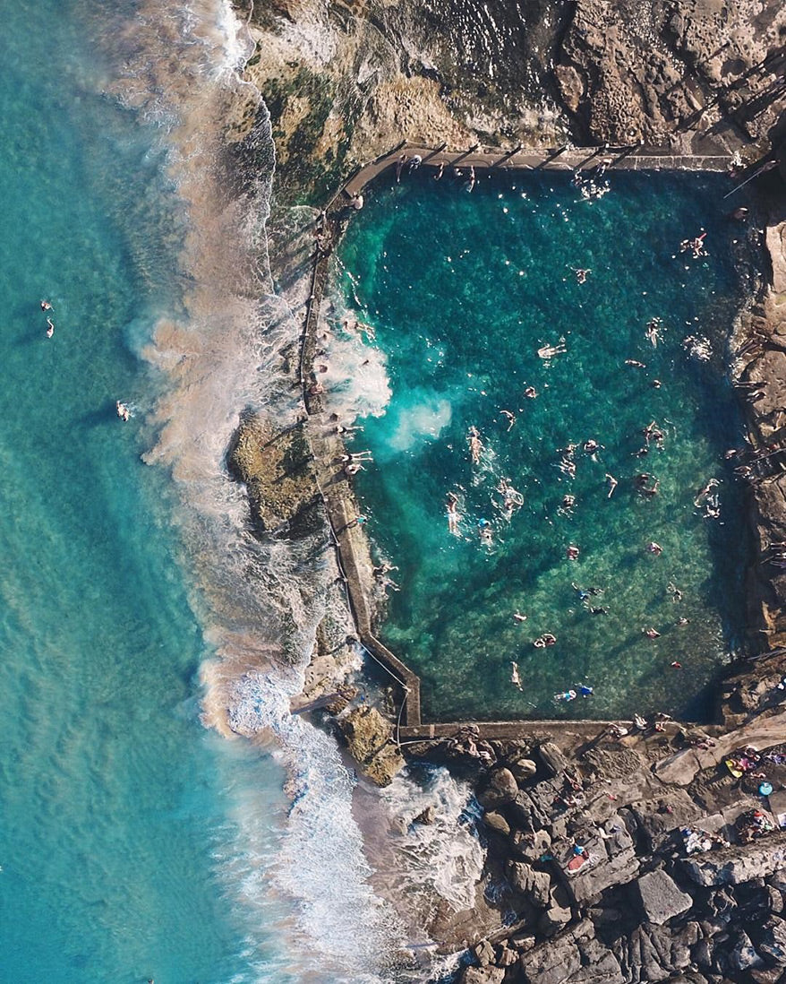 Best Drone Photos - Australia Seaside Pool - GoWorx