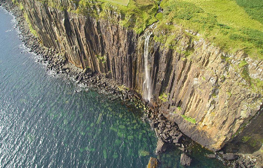 Best Drone Photos - Waterfall off cliffs - GoWorx