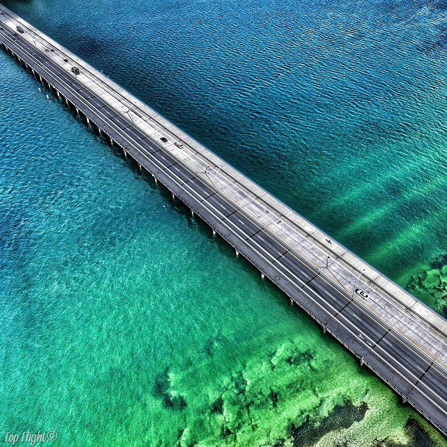 Best Drone Photos - Bridge over Water - GoWorx