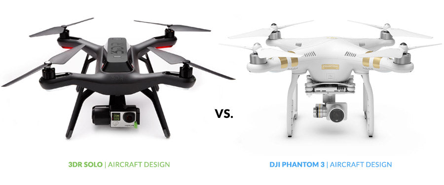 Drone Buyer's Guide - 3DR Solo vs. DJI Phantom 3 | Design Comparison