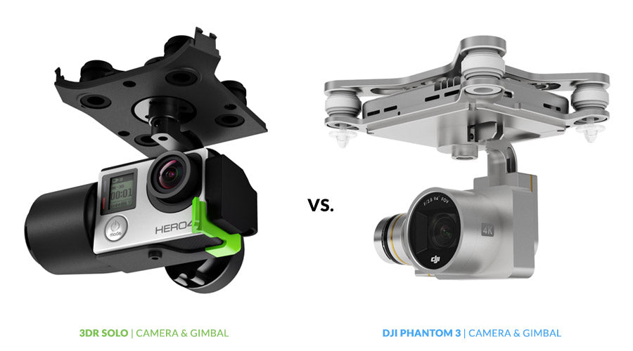 Drone Buyer's Guide - 3DR Solo vs. DJI Phantom 3 | Camera & Gimbal Comparison - GoPro & 4K