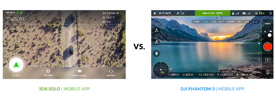 Drone Buyer's Guide - 3DR Solo App vs. DJI Go App Comparison