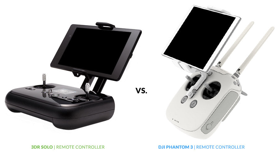 Drone Buyer's Guide - 3DR Solo vs. DJI Phantom 3 | Remote Controller Comparison