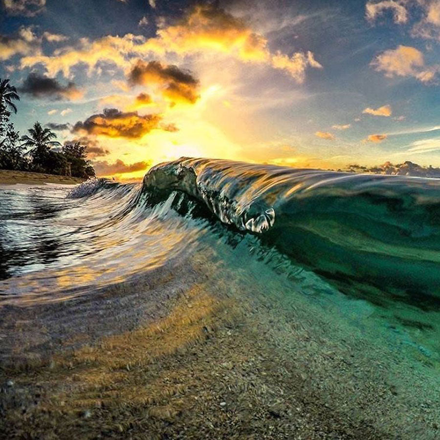 Perfect Wave Photography captured with GoPro HERO camera