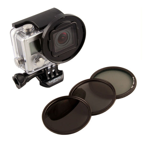GoPro filter pack adapter 55mm ND Polarizer Snake River SRP