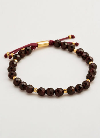 Power Gemstone Garnet Beaded Bracelet For Energy
