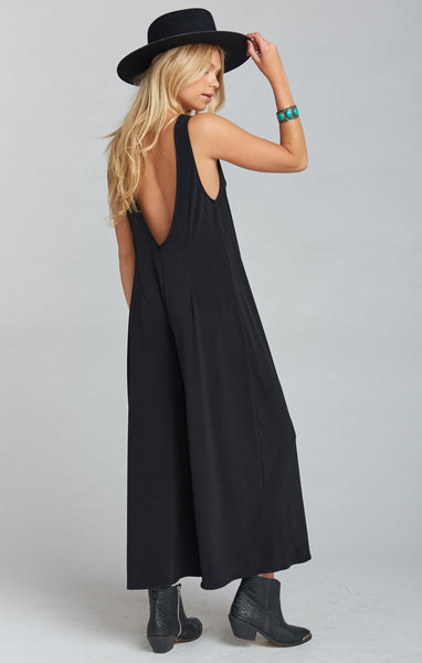 GOULDING JUMPSUIT ~ BLACK SPANDY