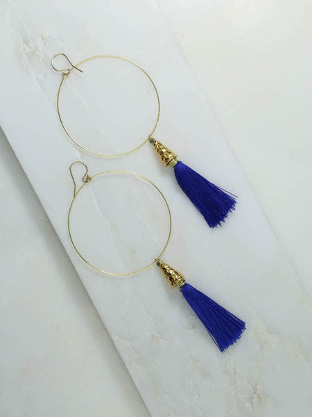 The Summer of Love Tassel Hoop Earrings