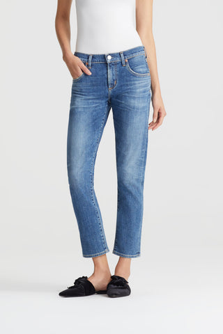 Elsa Mid Rise Slim Fit Crop in Liason