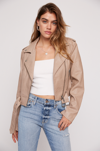 Tracy Moto Jacket - Latte