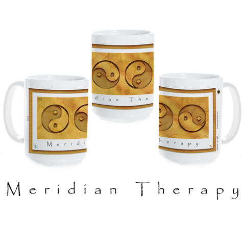 Yin Yang Coffee Mug-Wood-Meridian Therapy-Ceramic Coffee Mug