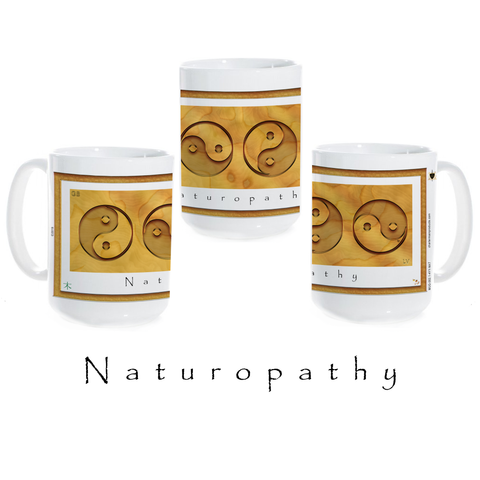 Yin Yang Coffee Mug-Wood-Naturopathy-Ceramic Coffee Mug