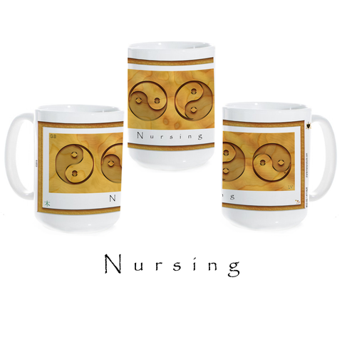 Yin Yang Coffee Mug-Wood-Nursing-Ceramic Coffee Mug