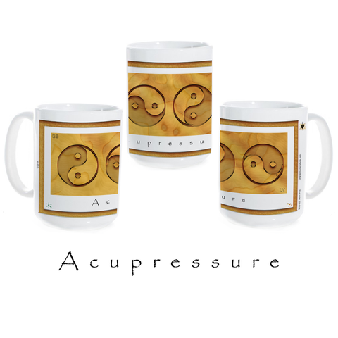 Yin Yang Coffee Mug-Wood-Acupressure-Ceramic Coffee Mug