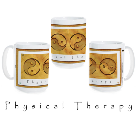 Yin Yang Coffee Mug-Wood-Physical Therapy-Ceramic Coffee Mug
