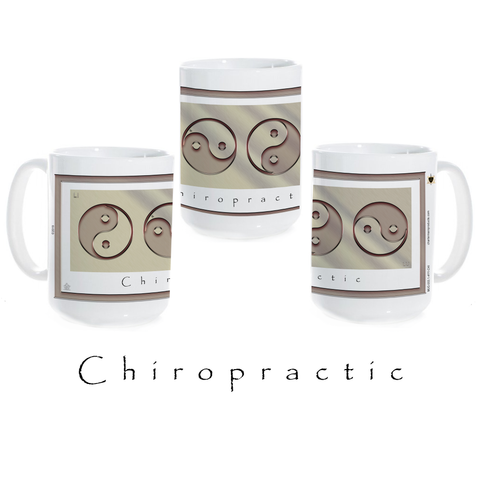 Yin Yang Coffee Mug-Metal-Chiropractic-Ceramic Coffee Mug