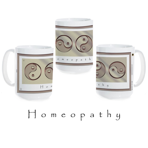 Yin Yang Coffee Mug-Metal-Homeopathy-Ceramic Coffee Mug