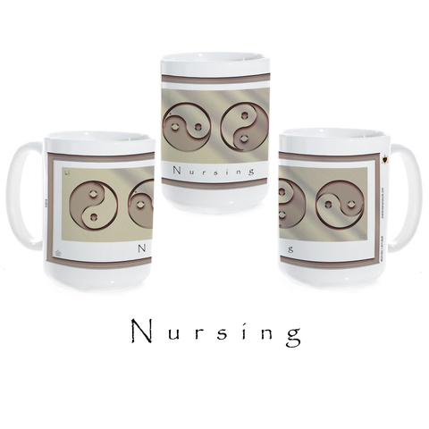 Yin Yang Coffee Mug-Metal-Nursing-Ceramic Coffee Mug
