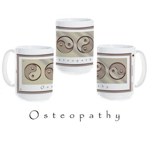 Yin Yang Coffee Mug-Osteopathy-Metal-Ceramic Coffee Mug