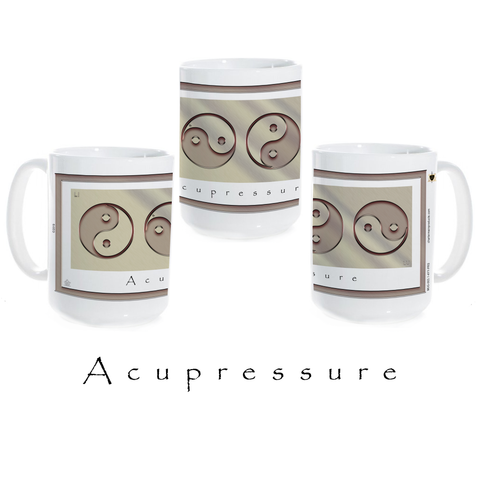 Yin Yang Coffee Mug-Acupressure-Metal-Ceramic Coffee Mug
