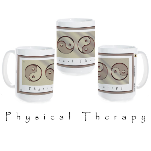 Yin Yang Coffee Mug-Metal-Physical Therapy-Ceramic Coffee Mug