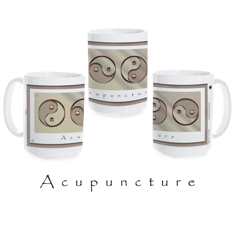 Yin Yang Coffee Mug-Metal-Acupuncture-Ceramic Coffee Mug