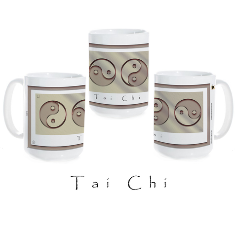 Yin Yang Coffee Mug-Tai Chi-Metal-Ceramic Coffee Mug